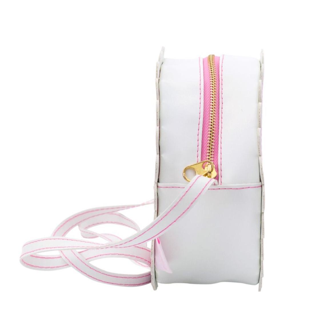 382697c1a89a Детская сумочка на длинном ремешке с павлином A Little Lovely Company,  розовая