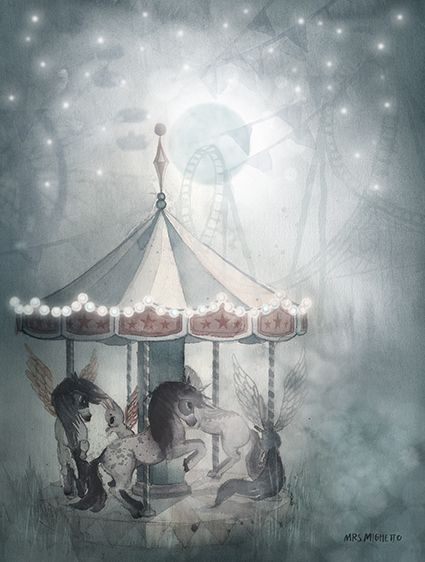 "Набор постеров Mrs Mighetto ""Mr William/Night Carousel"", 2 шт, 18x24 см"