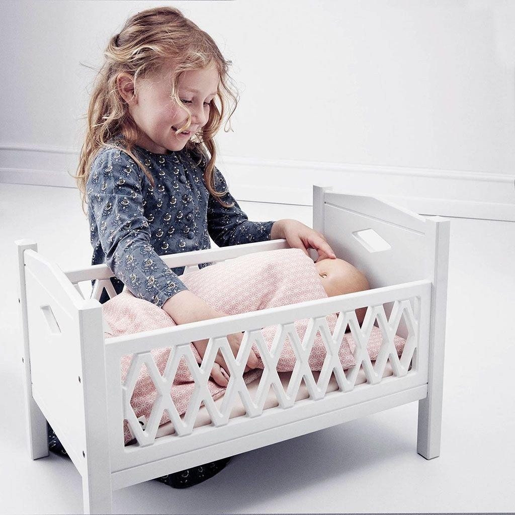 деревянная кроватка для кукол Cam Cam Copenhagen белая